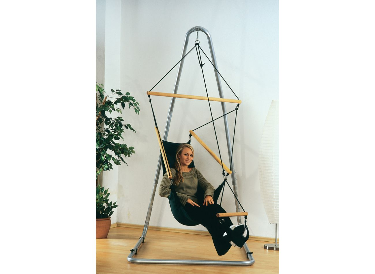Hängestühl 1 Person Swinger Black
