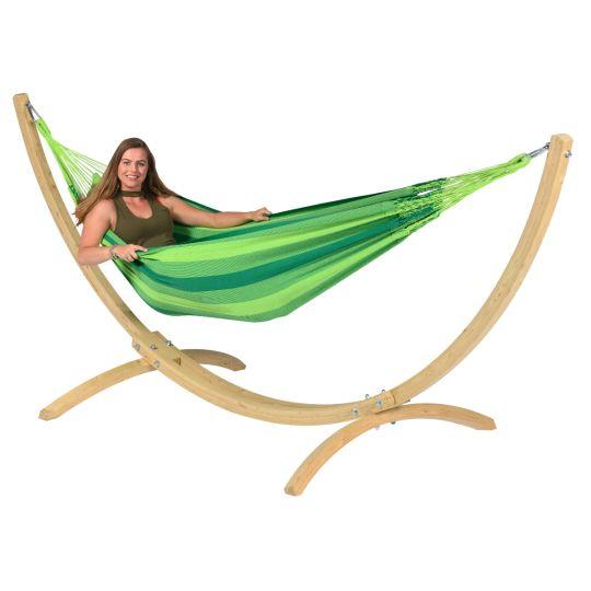 Hängematte mit Gestell 1 Person Wood & Dream Green