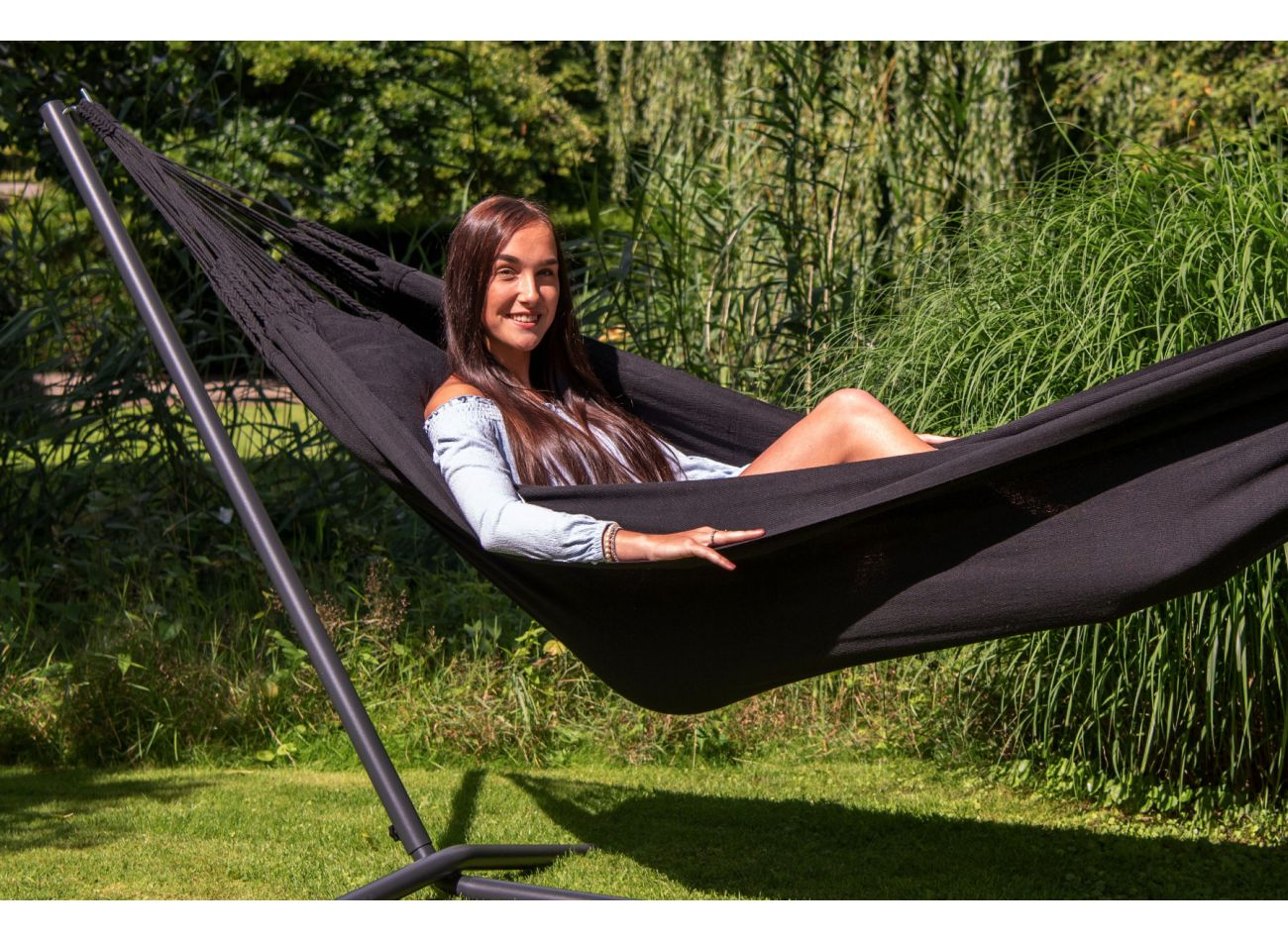 Hängematte mit Gestell 1 Person Easy & Classic Black